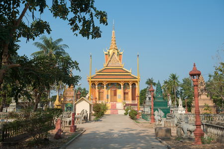 This image shows a Wat near Phnom Penh in Cambodia