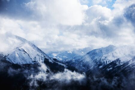 Clouds in the mountains