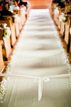 Hochzeits-Zeremonie Gang Standard-Bild - 38471070