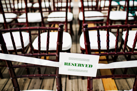 reserved sign: wedding reserved sign Stock Photo