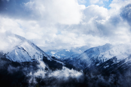 capped: Clouds in the mountains