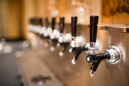 draught: Beer tap at a restaurant or pub
