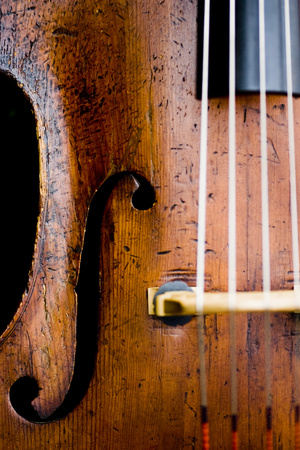 aged: Closeup of aged cello
