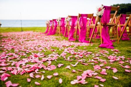 Outdoor wedding aisle at a destination wedding