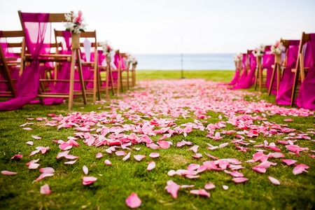 holiday destinations: Outdoor wedding aisle at a destination wedding
