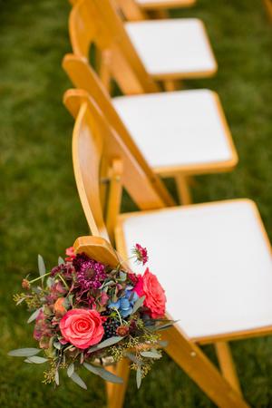aisle: Floral decoration on a wedding aisle Stock Photo