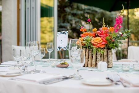 centerpiece: Centerpiece at a wedding reception