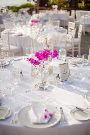 Tables setup for an outdoor event