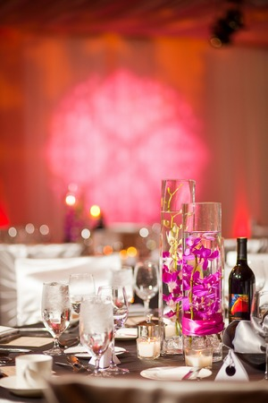 Centerpiece at a elegant wedding reception