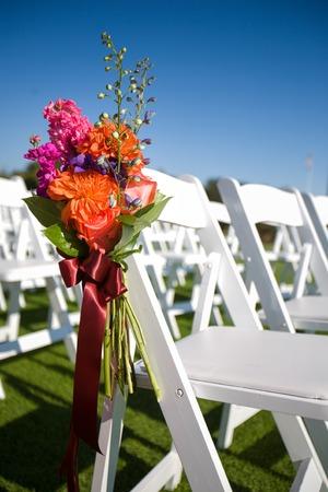 romance sky: Outdoor Wedding Aisle Stock Photo