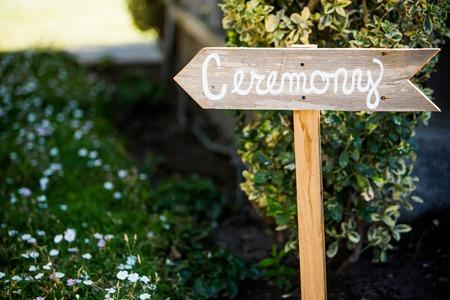 結婚式式のサイン