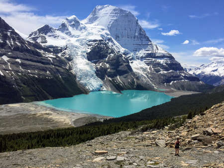 Hiking Berg Lake in Mount Robson Provincial Park, BC, Canada