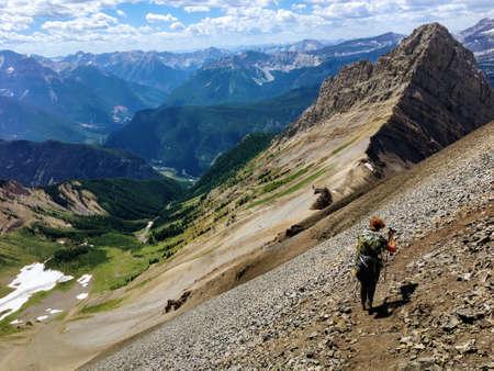 Hiking in the incredible Northover Ridge in Kananaskis Alberta