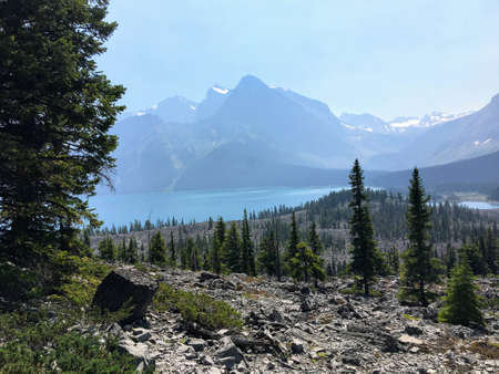 Backcountry hiking the spectacular Northover Ridge trail in Kananaskis, Alberta, Canada