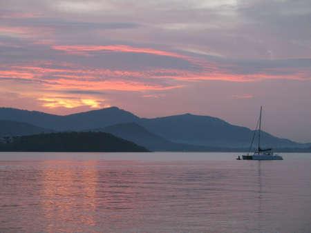 koś: Sunset over hills Ko Samui
