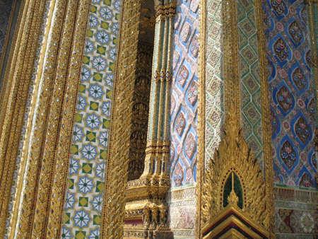 kaew: Decoration in Wat Phra Kaew Stock Photo