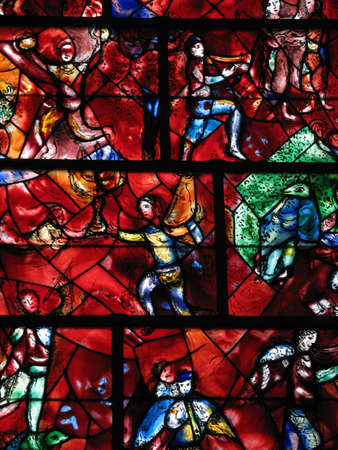 marc: stained glass window by marc chagall, chichester cathedral