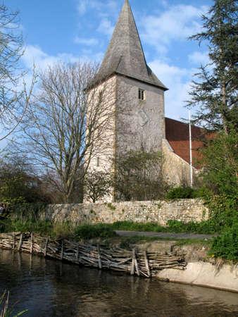 sussex: church in bosham, sussex