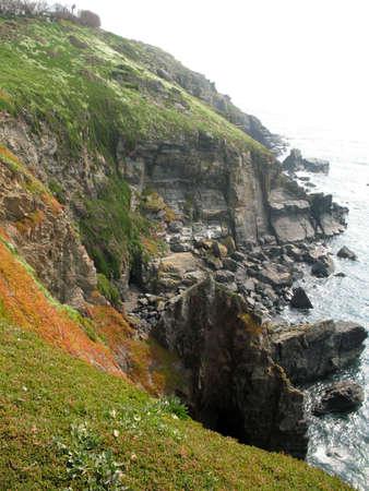 bri: cliffs at the lizard in cornwall