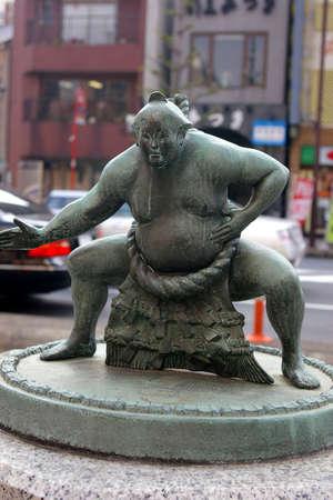 sumo: sumo statue tokyo Stock Photo