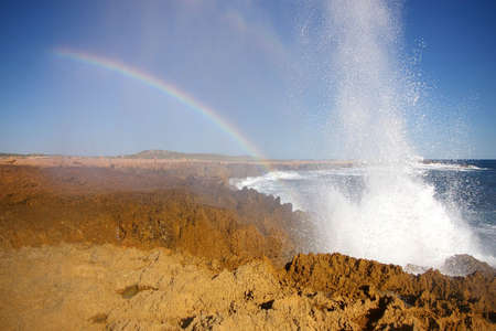 western australia: blow holes shark bay, western australia Stock Photo