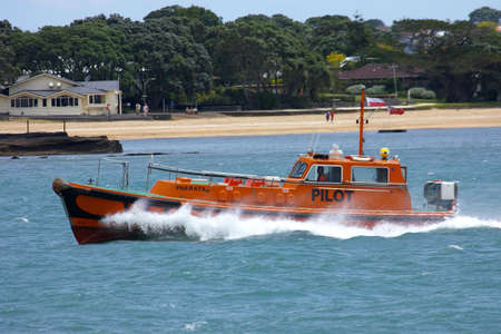lifeboat: lifeboat, auckland harbour, new zealand