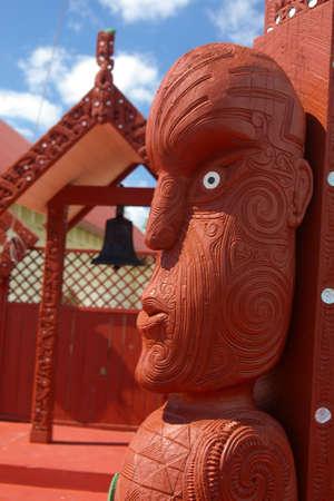 maori meeting house, rotorua photo