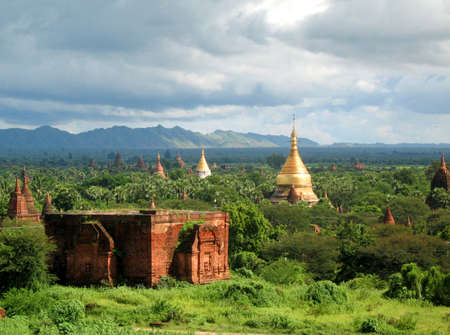 civilisation: temples across the bagan plain, burma