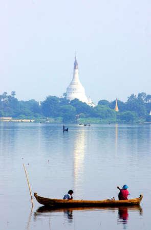 fishermen on lake, mandalay