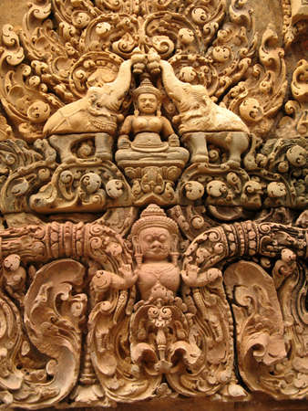 stone carving: stone carving on temple wall