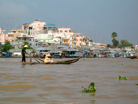 mekong: vietnamese boat mekong delta Stock Photo