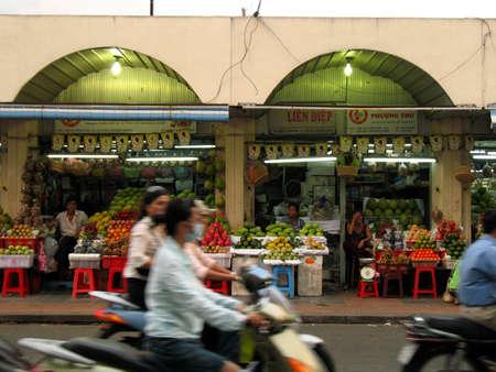 asian produce: market, saigon Stock Photo
