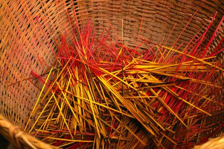 incense sticks: used incense sticks Stock Photo