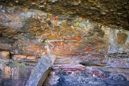 aboriginal rock paintings photo