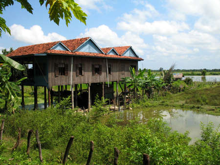 typical cambodian house photo