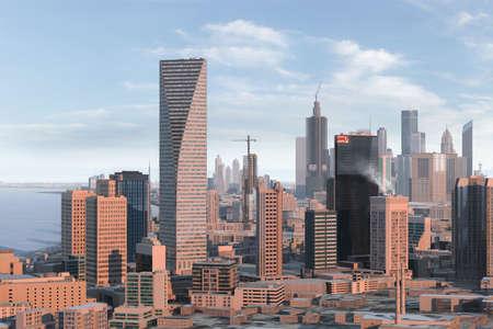futuristic city: imaginary city