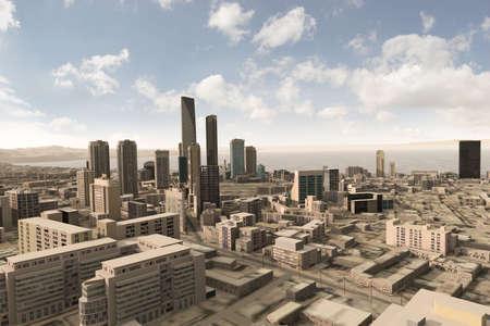 glazing: imaginary city 71 Stock Photo