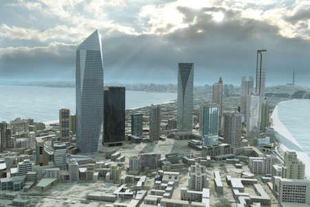 futuristic city: imaginary city