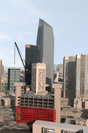 populated: imaginary city