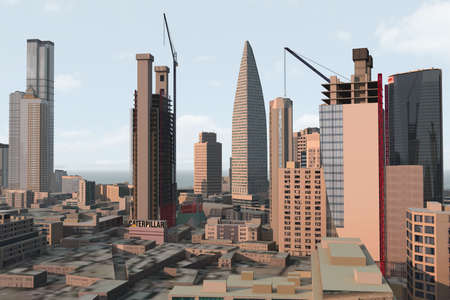 imaginary city Stock Photo - 2074021