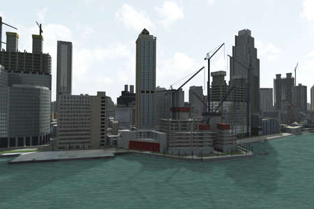 polluted cities: imaginary city