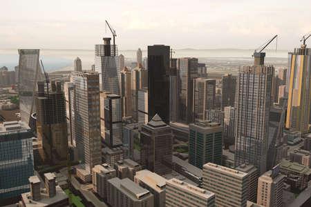 imaginary city Stock Photo - 2085352
