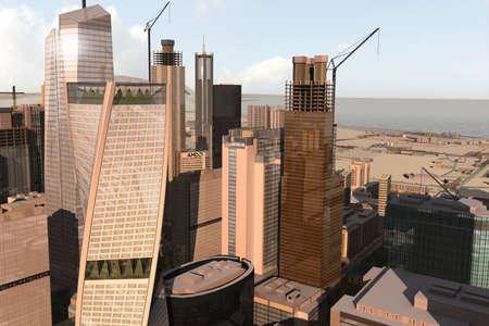 imaginary city Stock Photo - 2085355