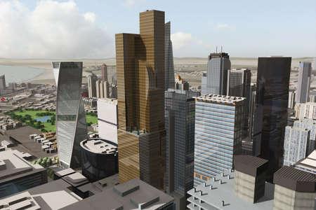 imaginary city Stock Photo - 2085343