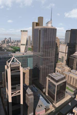 imaginary city Stock Photo - 2085342