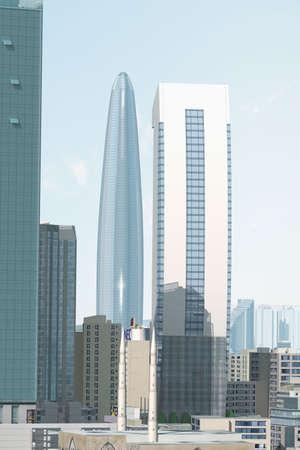 imaginary: Imaginary city Stock Photo