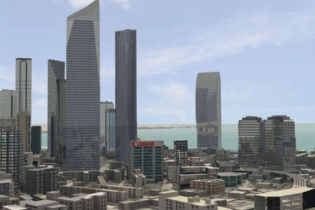 Imaginary city photo