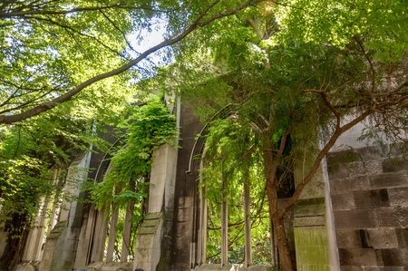 The ruins of the church of St Dunstan-in-the-East in the heart of London