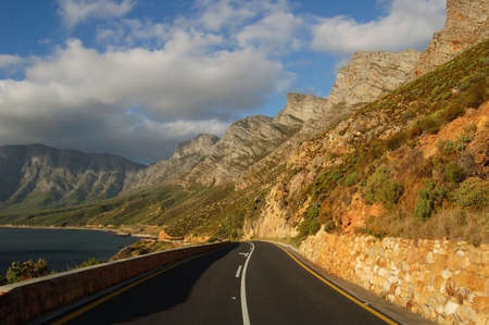 Coastal road of False Bay, Cape south coast in South Africa photo