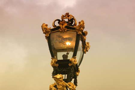 Lamp at St. James Park Редакционное